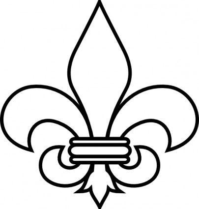 405x425 Fleur De Lis Outline Clip Art Decor Outlines, Clip