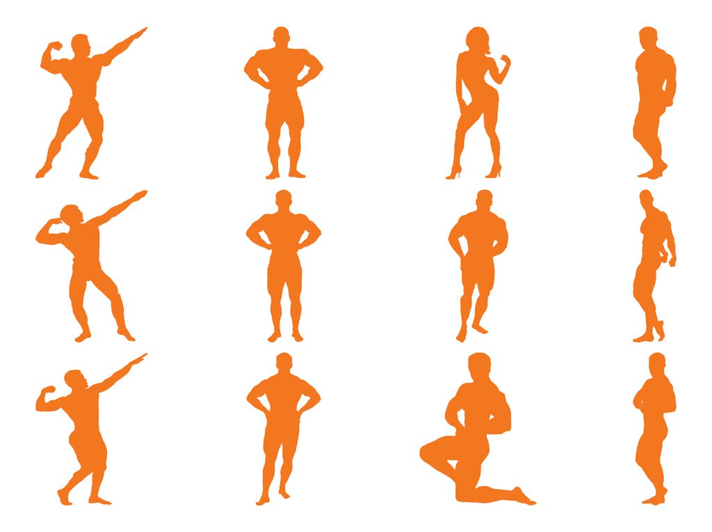 1024x765 Bodybuilder Silhouettes Vector Art Amp Graphics