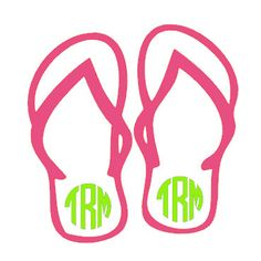 236x236 5 Personalized Flip Flop Decal Flipping, Monograms And Cricut