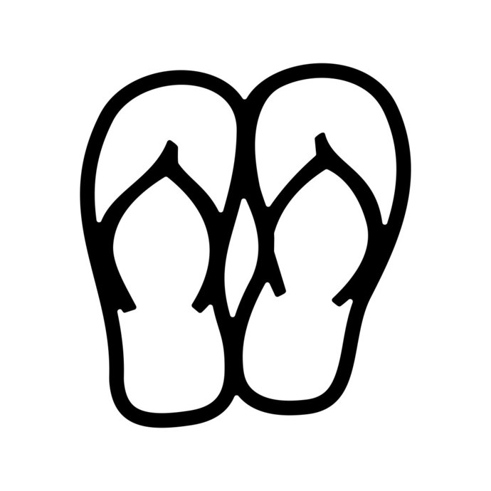 690x690 Flip Flops Beach Yeti Vacation Sandals By Vectordesign On Zibbet