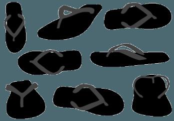 348x243 Flip Flops Silhouette Vector Flip Flops Silhouette Vector
