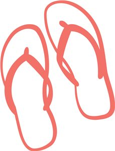 229x300 Flip Flop Pennant Silhouette Design, Silhouette And Flipping