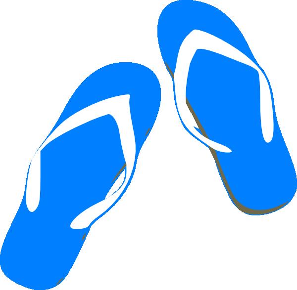 600x587 Blue Flip Flops Clip Art