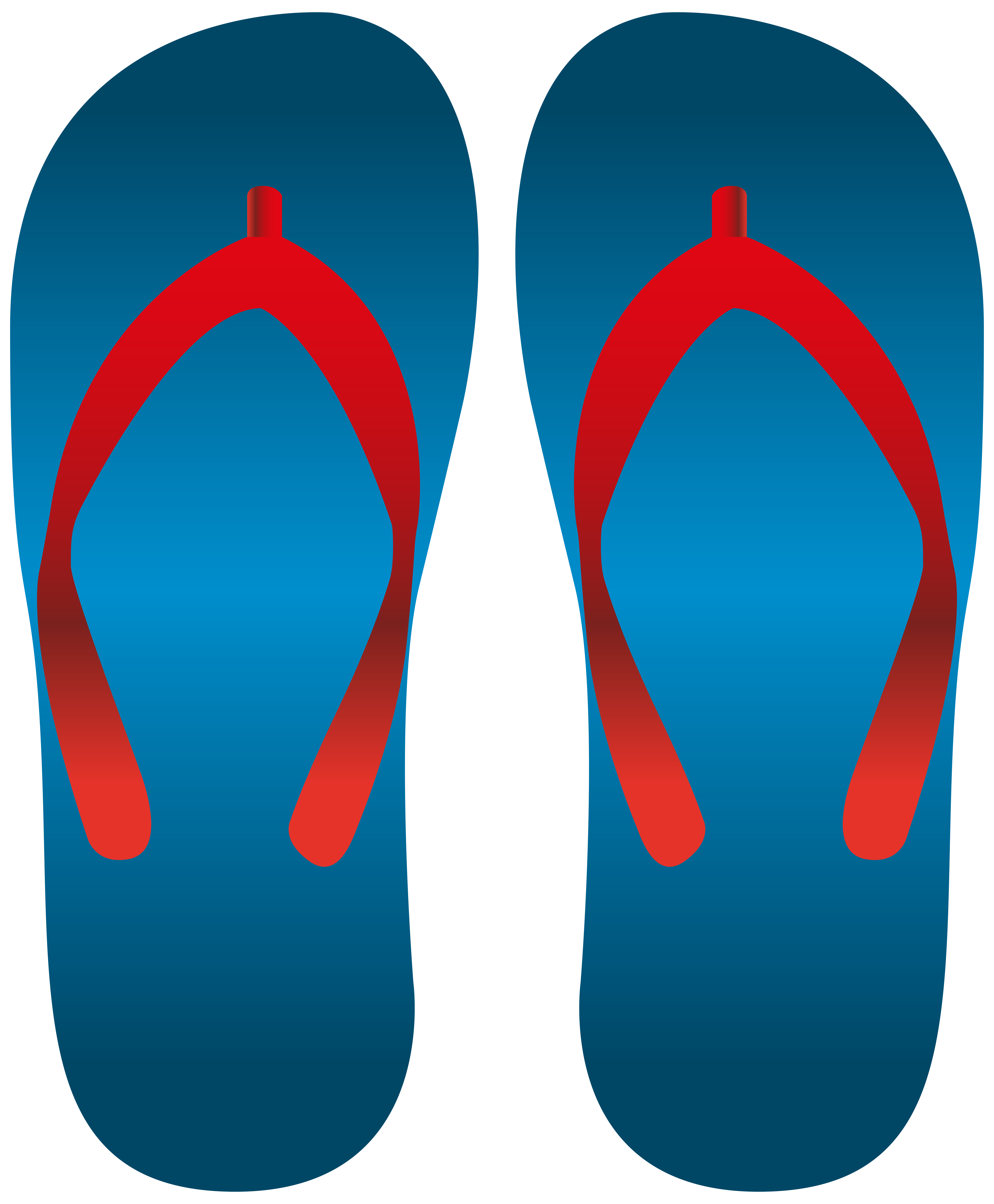 6604x8000 Blue Flip Flops Png Clip Art
