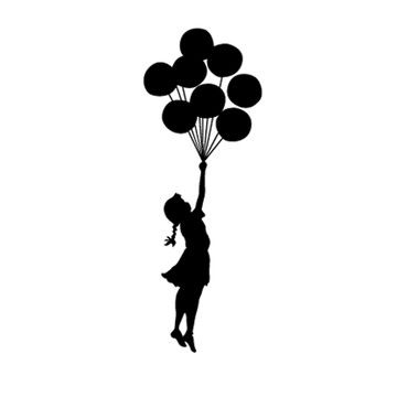 360x360 Banksy Balloon Float Sticker Now Featured On Fab (The Binary Box