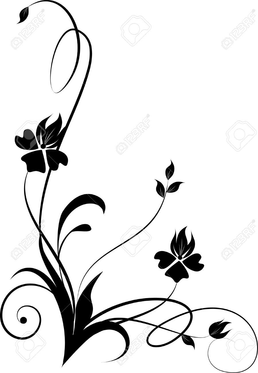 900x1300 Floral Vector Cliparts Collection