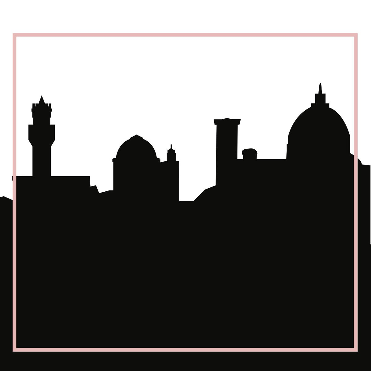1200x1200 Florence, Italy Skyline Silhouette Cityscape Purses And Pillows