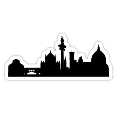 375x360 Florence Skyline Stickers By Maximgertsen Redbubble