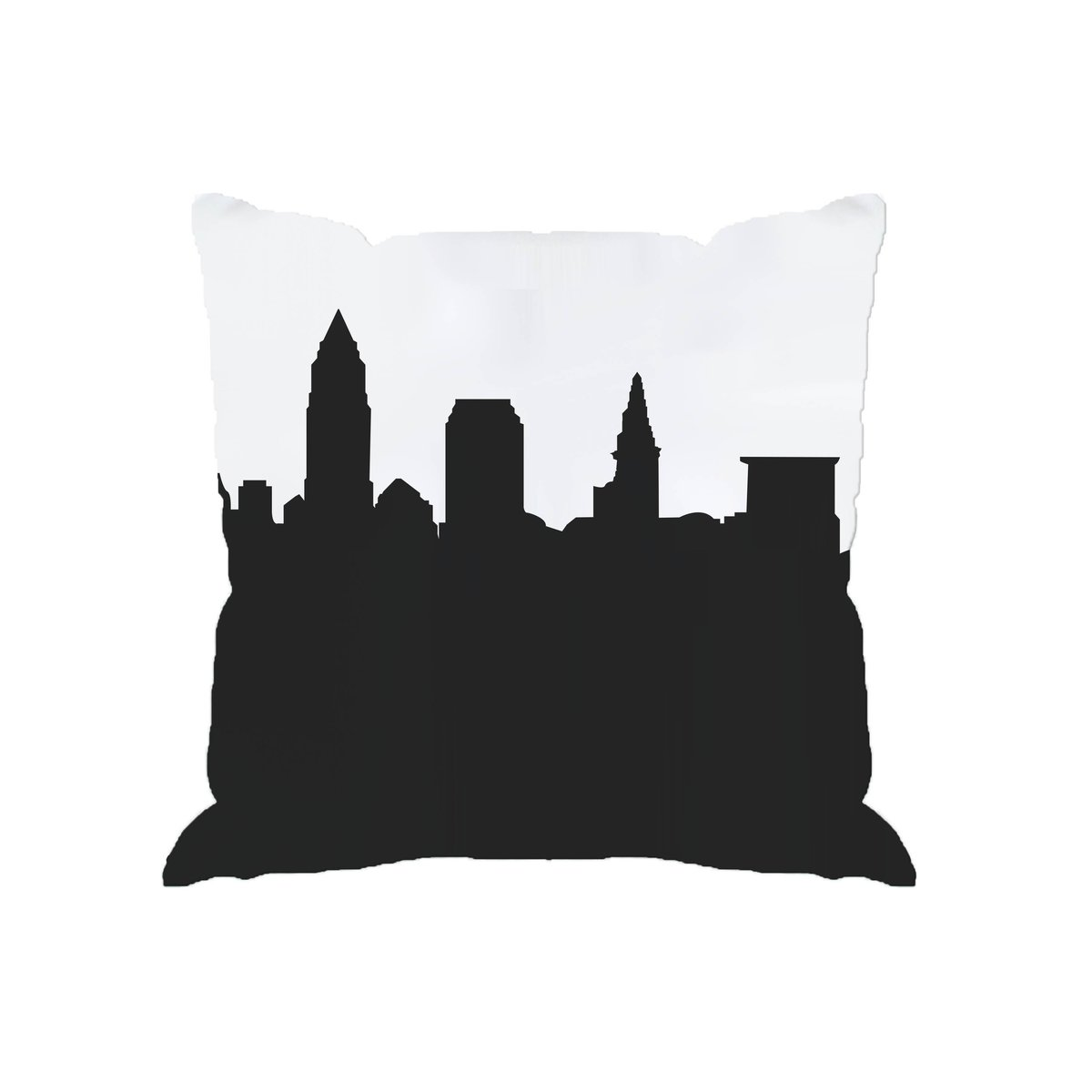 1200x1200 Skyline Silhouette Cityscape Large Throw Pillow Anne Cate