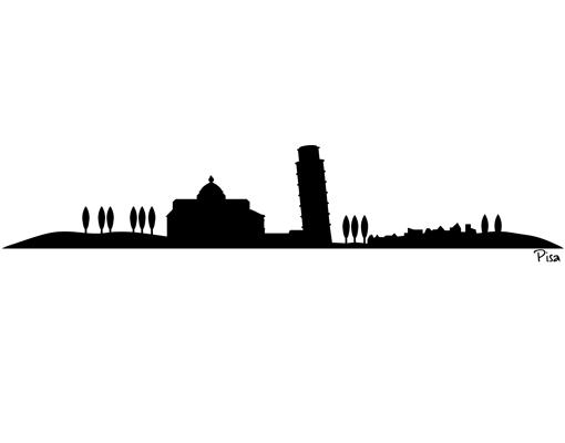 510x400 Wandtattoo No.sf473 Pisa Skyline Silhouette Art