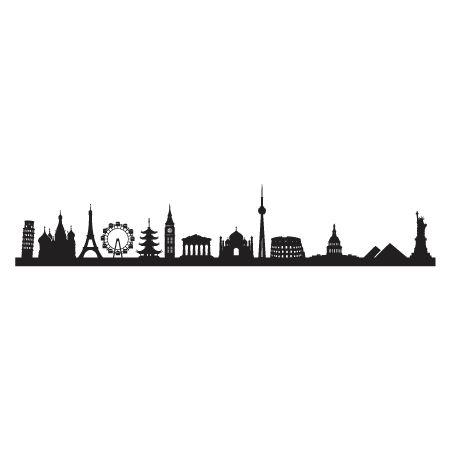 451x451 Florence, Italy Skyline Silhouette