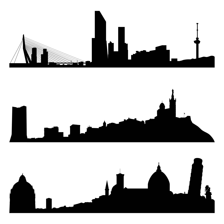 3000x3000 City Silhouette Svg, Europe Cities Svg, World Cities Svg