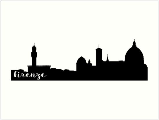 549x413 Firenze Skyline Art Prints By Zejanysz Redbubble