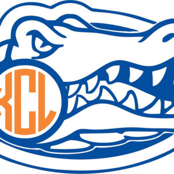 354x354 Florida Gators Monogram Sticker ~ Custom From Twangboutiquedotcom