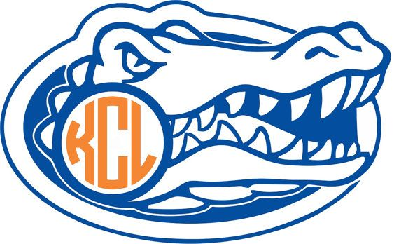 570x348 Florida Gators Monogram Sticker ~ Custom ~ Vinyl ~ Decal ~ State