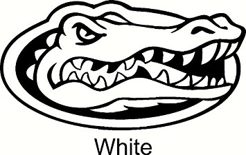355x225 Florida Gators Logo Car Window Vinyl Decal Sticker 6