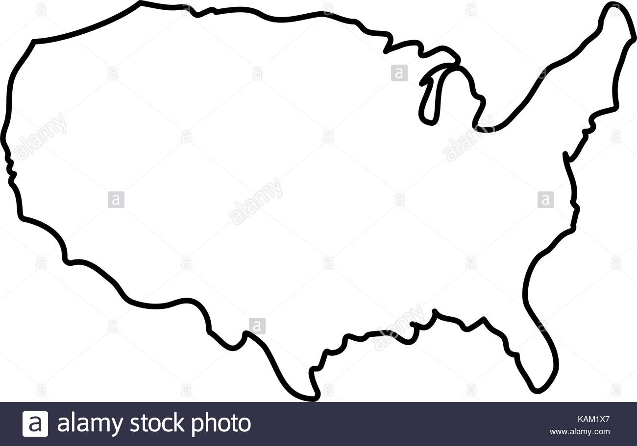 1300x911 united states map silhouette map of usa