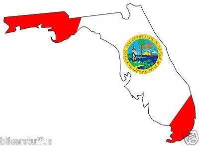 400x293 florida silhouette state map flag bumper sticker laptop sticker