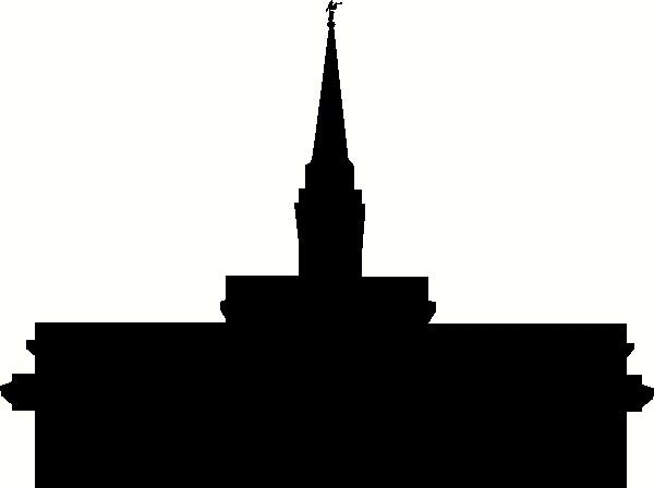 600x448 Florida Orlando Temple Silhouette Wall Sticker, Vinyl Decal