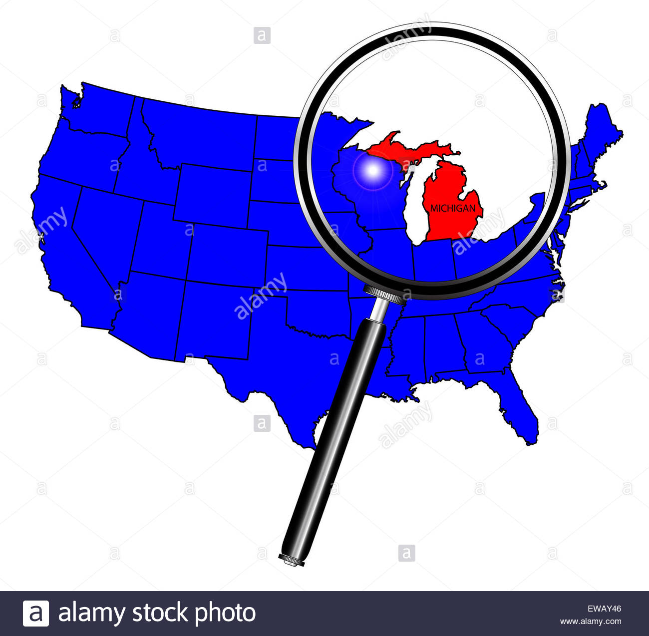 1300x1274 Outline Map State Michigan Map Stock Photos Amp Outline Map State