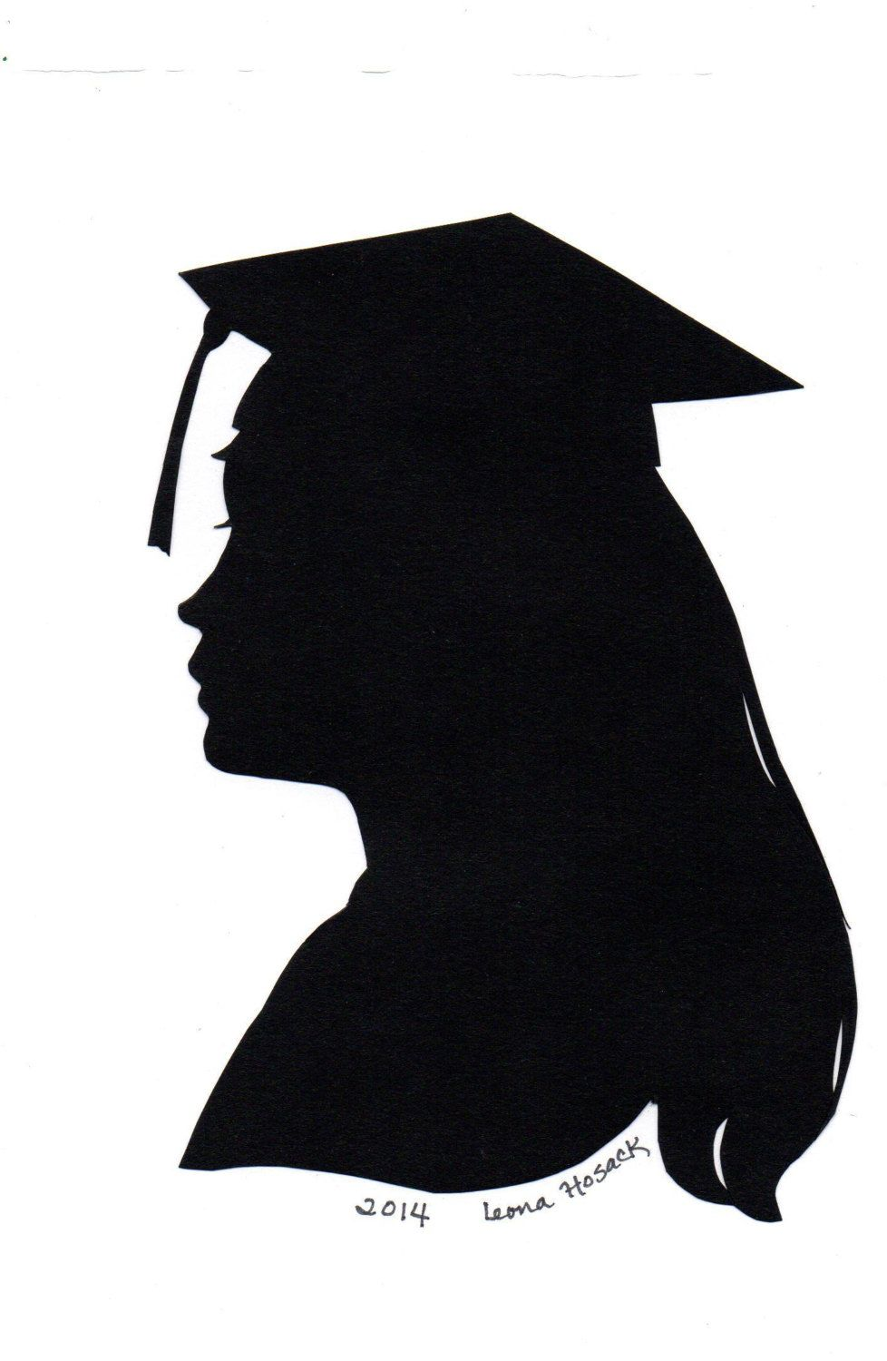 978x1500 Custom Hand Cut Silhouette Of Your Graduate By Portraitsbylee