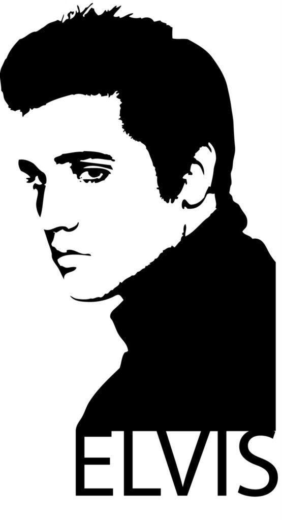 555x1024 Elvis Silhouette Clip Art
