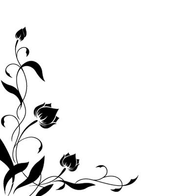 380x400 Flower Border Pattern Vector 217387