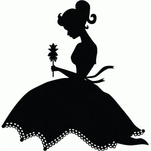 300x300 Pretty Girl With Flower Silhouette Design, Silhouette And Flower