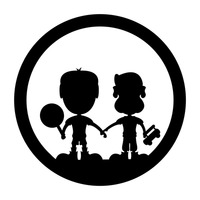 200x200 Shape Shapes Silhouette Silhouettes Boy Boys Human People Person
