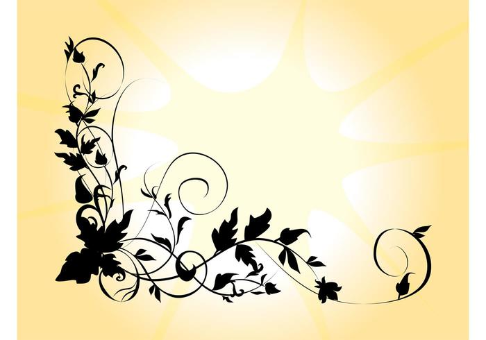 700x490 Flower Silhouette Free Vector Art