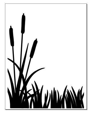 Flower Silhouette Border