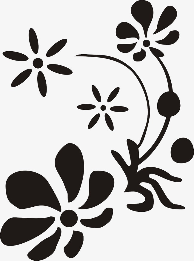 650x875 Flower Silhouette, Flowers, Sketch, Leaf Png And Psd File For Free