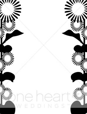 296x388 Pop Art Sunflower Border Wedding Flower Borders