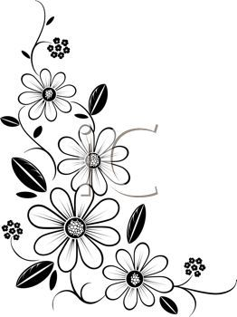 262x350 Flower%20corner%20border%20clip%20art Decoration