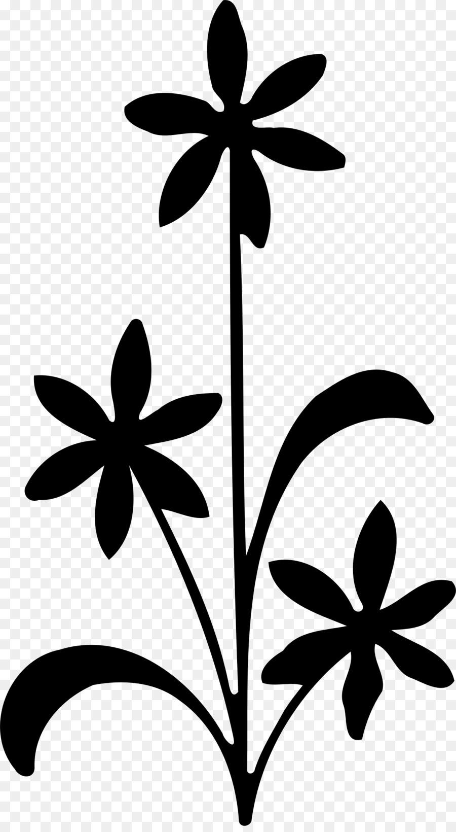 900x1640 Flower Silhouette Visual Arts Clip Art