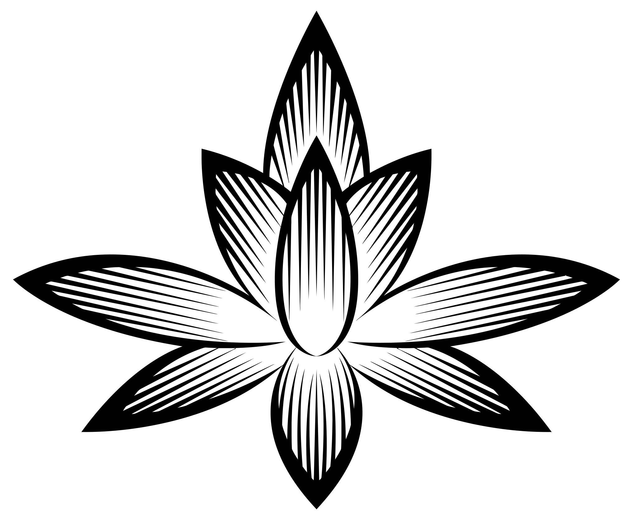 2034x1669 Stylized Flower Silhouette Clipart