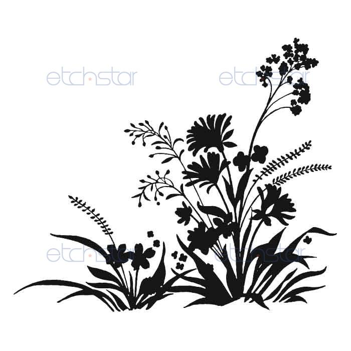 700x700 Wildflower Clipart Silhouette