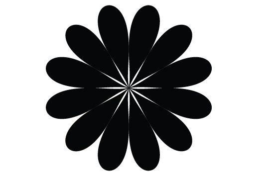 550x354 Free Flower Silhouette Vector Clip Art