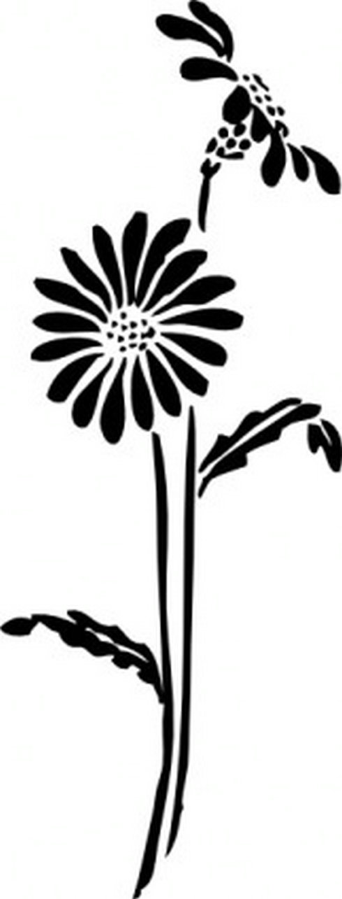 490x1285 Flowers Silhouette Clip Art Free Vector Download