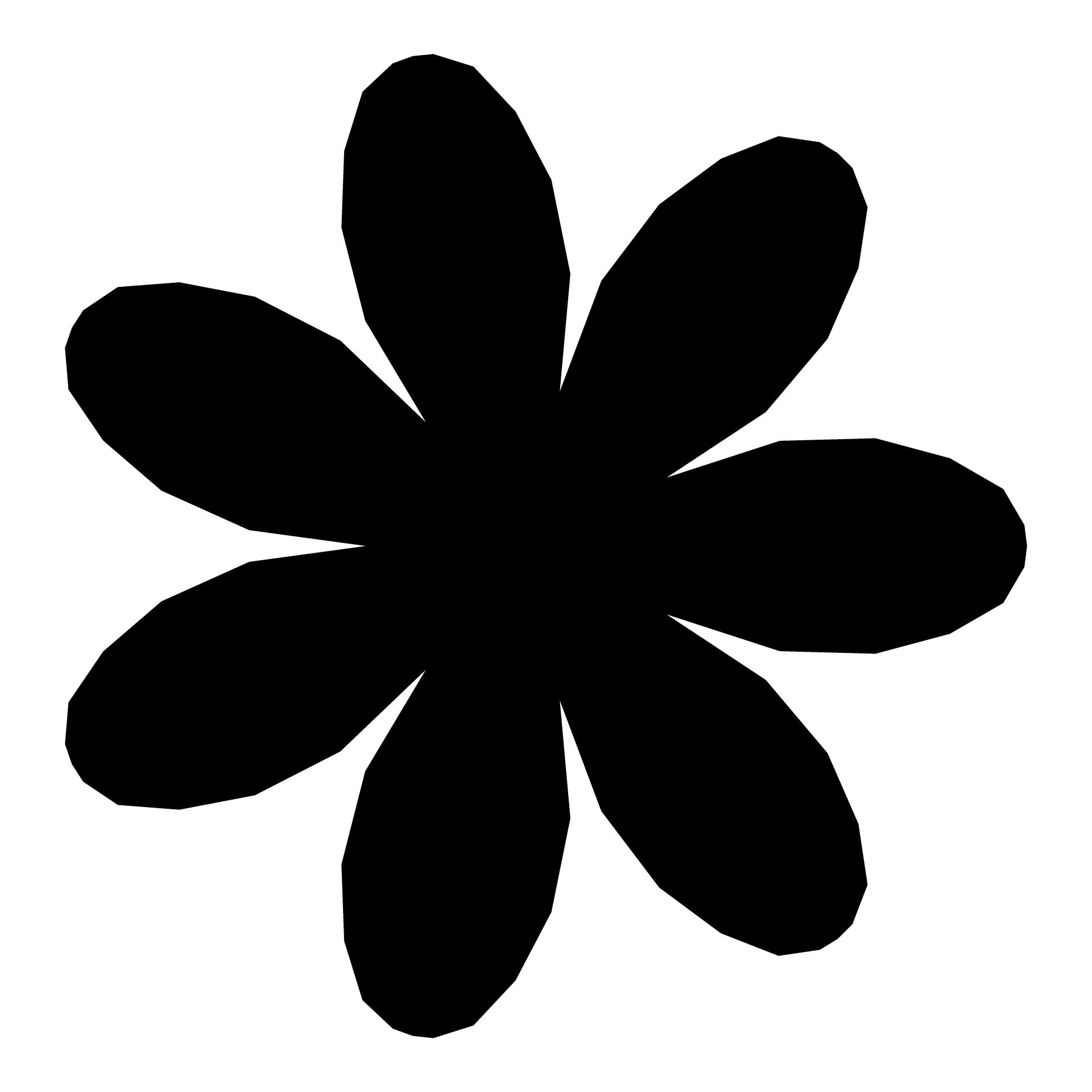 1920x1920 Petal Flower Silhouette Free Stock Photo
