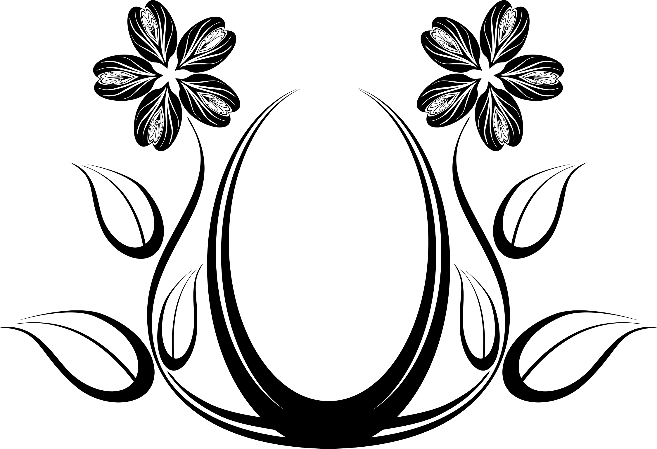 2248x1539 Black Rose Silhouette Design Free Clip Art Flower ~ Voilliov