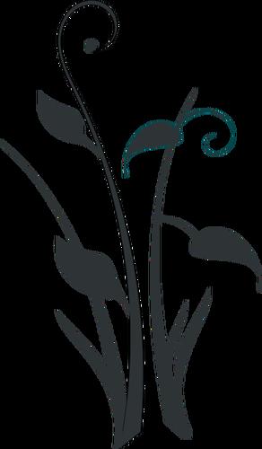 292x500 Arty Flower Silhouette Public Domain Vectors