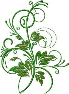 220x300 Floral Green Leaves And Water Droplets Png Clipart