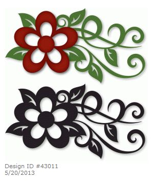 309x353 Sticker Floral 2 Portrait Wall Stickers Floral