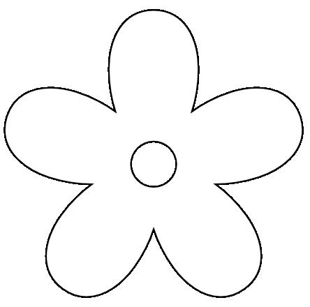 444x440 Five Petal Flower Clip Art Clipart Collection