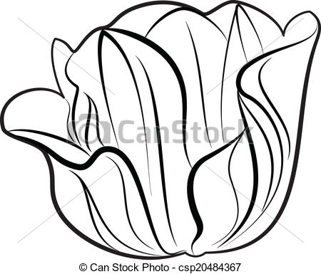 450x385 Illustration Of Great Flowers Silhouette Clip Art Vector