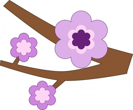 425x354 Purple Flower Silhouette Vector