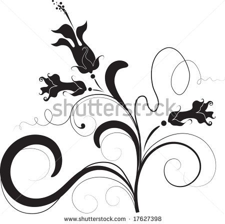 450x448 Stock Vector Floral Silhouette, Element For Design, Vector