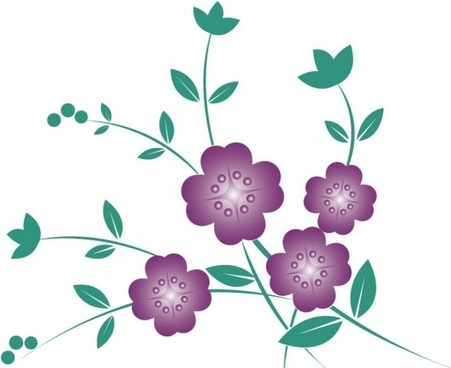451x368 Flower Outline Free Vector Download (14,477 Free Vector)