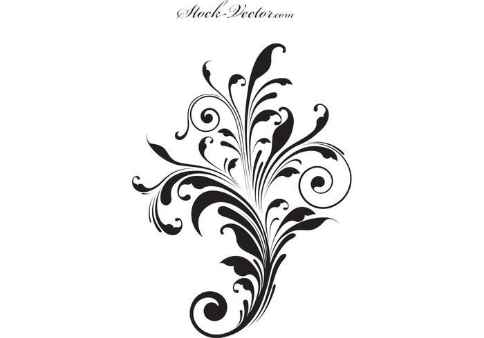 700x490 Free Vector Flower Silhouette